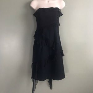 Ruth black strapless cocktail dress size 0